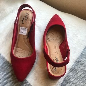 Shoes - Red small heel
